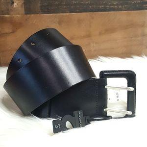 Banana Republic NWT Black Wide Leather Belt